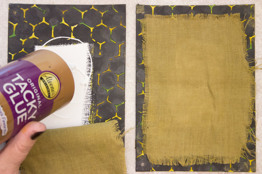 building a simple mixed media canvas background thicketworks
