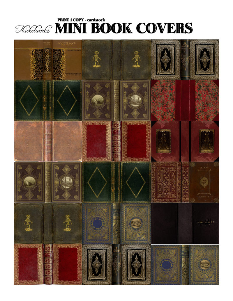 graphic regarding Miniature Books Printable identified as Miniature Guides - A Delight in Affair Thicketworks