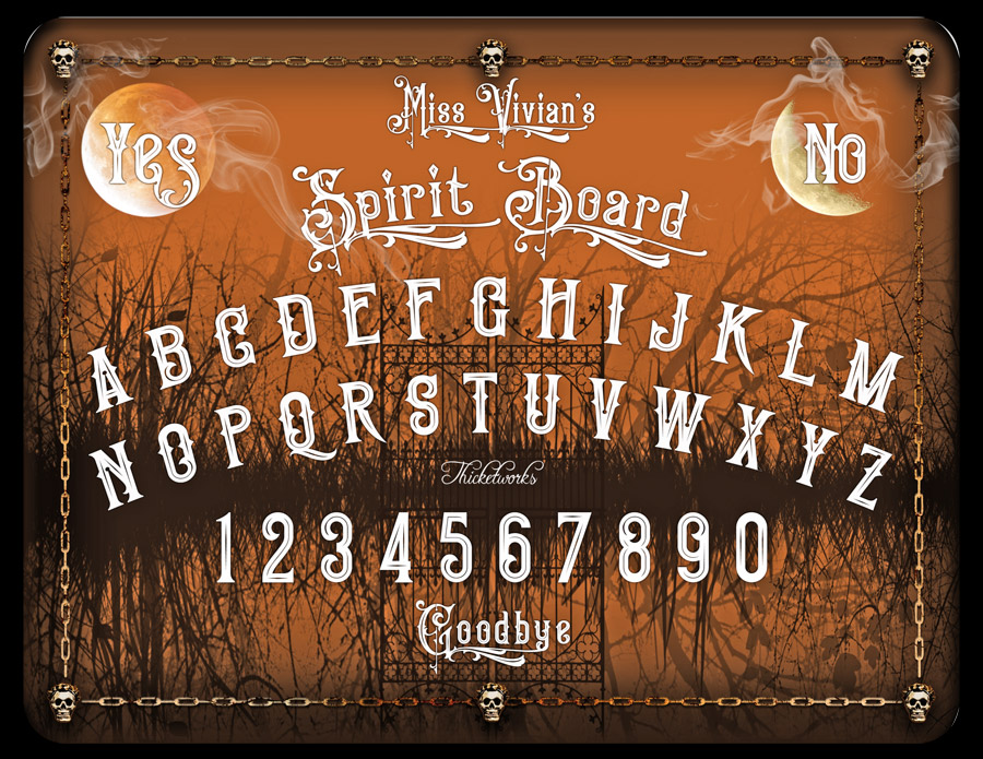 graphic about Printable Ouija Boards named Do-it-yourself Spirit Board Thicketworks